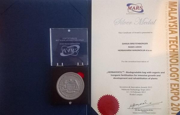 Srebrna medalja – Malaysia Technology Expo 2015.