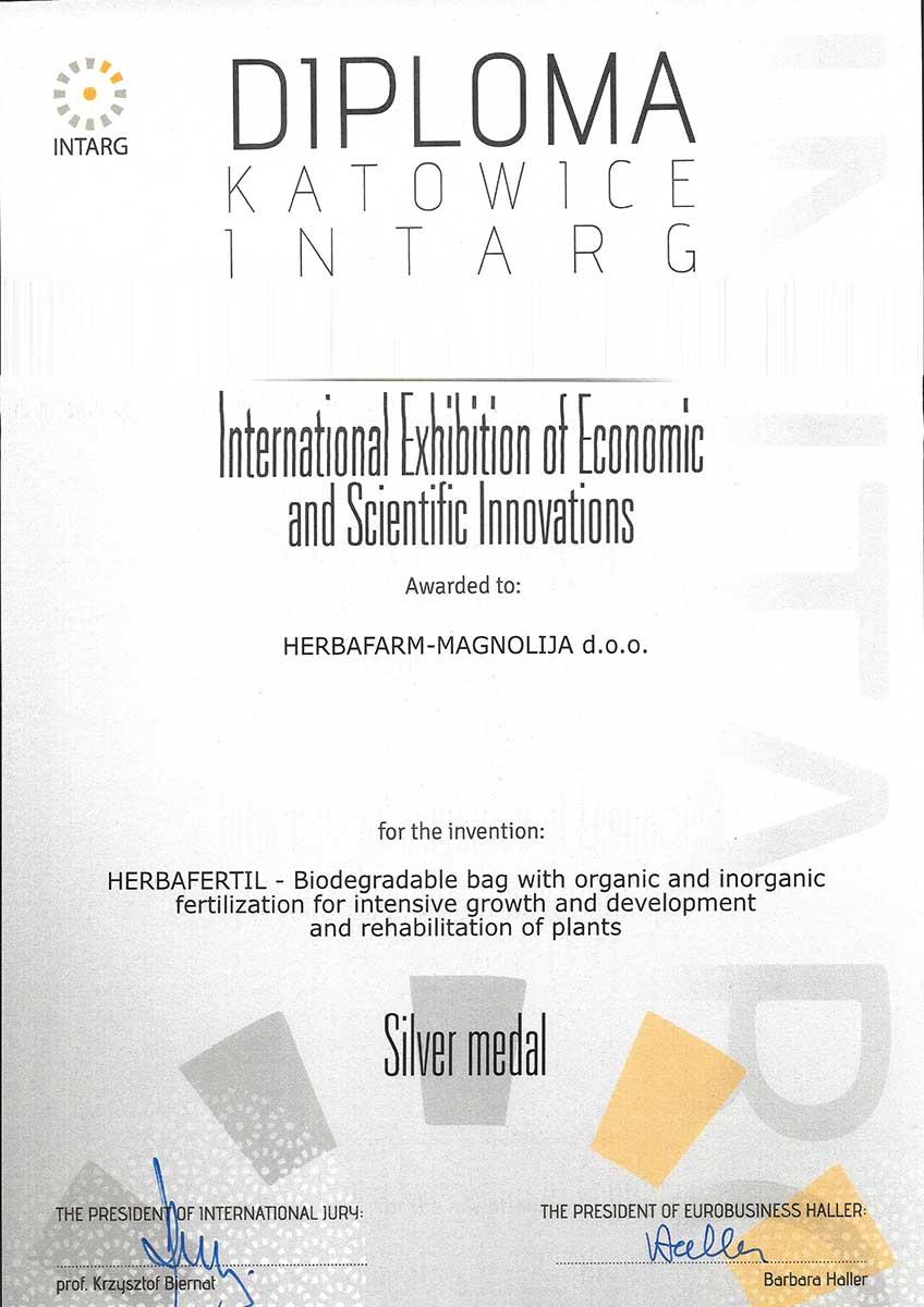 Srebrna medalja - Katowice INTARG